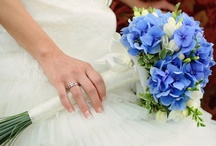 blue flowers / by Kari Young Floral Designs