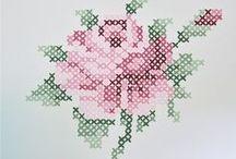 Cross stitch / Korsstingsbroderi