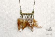 JEWELRY // BIJOUX // ACCESSOIRES / Les plumes de lilou  Accessoires, bijoux, jewelry, plumes, collier, necklace #necklace #earring #jewelry #plumes #feathers #bijoux #collier #bouclesdoreille