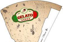 Italy | Italia / Designs inspired in Italy. The real artisan ice cream! Diseños inspirados en la bella Italia. Il vero gelato artigianale!