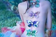 Butterflies, Dragonflies and Beautiful Bugs / Butterflies, Dragonflies and Unearthly Flying Insects with Jeweled Wings, ideas for fluttering Alternative Off Beat Wedding Styles.