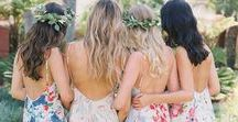 Bridesmaids and Flower Girls / Bridesmaids and Flower Girls, dresses, shoes, hair, nails, makeup, all the fun, girlie stuff for the attendants in an Off Beat, Alternative style wedding fashion theme.