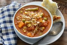 Soups & Stews / Warm up with a comforting bowl of beefy soup!