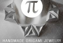 π  Handmade Origami Jewelry / SAY IT is now presenting its new jewelry line named π (pi), creating contemporary origami unique pieces of laminated paper, and other folded materials, 100% handmade, designed by Eleonora Colonna for SAY IT Clothing
