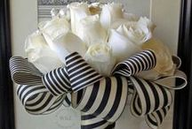 Stripes Wedding / Striped ribbon, stripes for party decorations,   wedding &  reception table decor.
