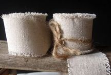 Cotton and Linen Ribbon / to decorate, create and embellish your crafts and decorations for parties, holidays and events.