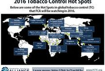 Global tobacco control / Steps being taken around the world to reduce the devastating effects of tobacco and tobacco use. This includes the global tobacco control treaty, the FCTC, which has 180 Parties (governments that have ratified it).