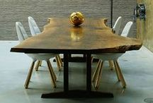 DINING TABLE / LIVE EDGE DINING TABLES / by H + K Architects