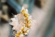 Estelle Comb /  Estelle Comb   The Estelle comb is a golden brass flower comb with a quartz stem. The comb can be paired and worn as a crown.     Price: 84 euro  http://naturae-design.com/products/combs/Estelle%20Comb.html