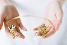 Rhea Headband / Rhea Headband   A flexibel and easy to wear goldplated headband.  Beautiful with your hair down ore with a romantic updo.    Also beautiful for a bridesmaid.   Made by order   Price: 48 Euro  http://naturae-design.com/products/headband/Rhea%20Headband.html