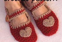 Sutsko / Slippers / Jeg fryser altid om fødderne... Og hjemmelavede sutsko er så hyggelige.