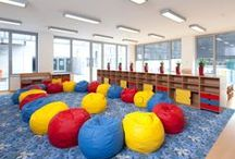 LYCÉE FRANCAIS DE PRAGUE / Implementation of interior of the kindergarten with French language teaching took place in cooperation with architect Lucie Odehnalová Lhotová, M.Sc. The idea of a new furniture series for the kindergarten might have come into existence here.
