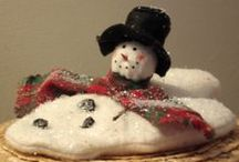 Let it SnowMAN / This is a collection of prim, country, antique looking snowman!