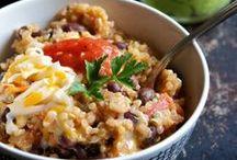Quinoa bowls and burgers