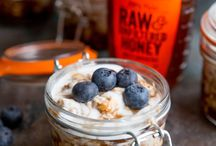 Breakfast / A collection of delicious breakfast ideas using honey other ingredients. Healthy breakfast, simple family friendly food. While also adding a beautiful variety of color to start your day feeling good.
