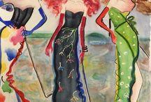 My women / Women, watercolor