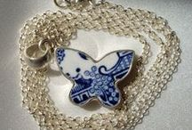 Blue and White Handcrafted Sterling Silver Jewellery