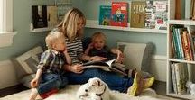 Kids book nooks and cozy areas / Places to curl up and read or snuggle