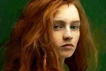 Painted portraits / Portraits