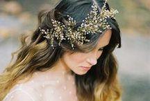 Bridal Hair / Hairstyles, Veils & Floral Crowns