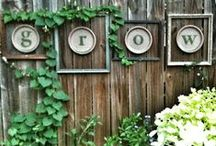Home ~ Outside Decorations & Planters / by Karen Long