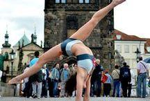 Siluet YOGA WEAR in Master posture / Anna Cadkova, Czech yoga asana Champion 2013 & silver medal from World Yoga Asana Championship 2013 wearing *Siluet YOGA WEAR*
