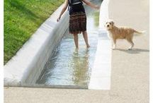 Urban Hydrology / Sustainable water management features (bioswales, ditches, rills/runnels, permeable pavement &c) from Slow Ottawa. Visit 30 more sustainability-themed boards at www.pinterest.com/slowottawa/