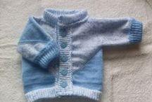knitting machine, pletené a háčkované