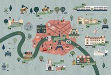 Illustrasjon: Kart og steder