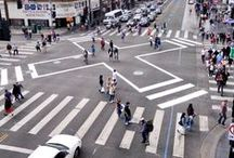 Safe Crossing / A presentation-ready visual primer on street junctions designed for motorists, cyclists and pedestrians. 30 more sustainability-themed boards at www.pinterest.com/slowottawa/