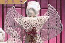 anioły szydełkowe