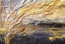 Art textile / tissus, panneaux textiles et patchwork contemporain.