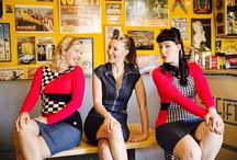Pinup / rockabilly fashion / Rockabilly and pinup style self designed and sewed clothes, full of colour and 60's feeling