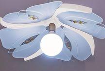 Lampadari / Lampadari di design realizzati in Legno massello e Policarbonato e Vetro