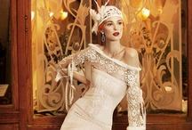 Novia Vintage / Estilo de vestidos retro o años veinte con todo el glamour de la época Art Deco.