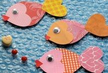 Kids craft: ocean/water habitat