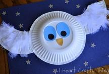 Kids craft: woods habitat and birds