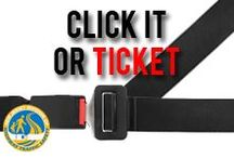 "Click It or Ticket / Seat belts are the most effective safety feature ever invented and have helped save thousands of lives. Sadly, one in five Americans fail to regularly wear a seat belt when driving or riding in a motor vehicle. By maintaining the ""Click It or Ticket"" brand and awareness, we will continue to reduce seat belt fatalities on America's roads. / by NJ Division of Highway Traffic Safety"