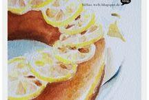 Billas_WaterColourPaintings (Food) / Food illustrations with Watercolours