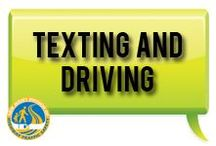 "Texting and Driving / Texting while driving is one of the most serious forms of distracted driving. Remember, ""One text or call could wreck it all."""