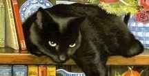 [Art] Feline Modern Art / Cats are the perfect portrait models!