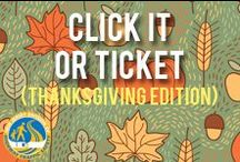 Thanksgiving- Click It or Ticket / Seatbelts save lives.