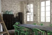 Industrial Interiors / Raw, unfinished and minimal mashed with metals and wood. It could only be Industrial style...