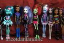 mes réas poupées Bratz - Monster High / tenues de poupées