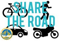 Share the Road / Drivers, motorcyclists, bicyclists and pedestrians all have a responsibility to stay aware of others while on our roadways. / by NJ Division of Highway Traffic Safety