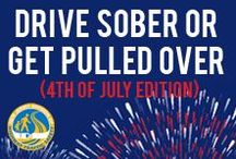 4th of July - Drive Sober or Get Pulled Over / Don't ruin your independence! PLEASE designate a sober driver! / by NJ Division of Highway Traffic Safety