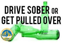 Drive Sober or Get Pulled Over / If you decided to drive drunk, you will get busted. Never risk your life or the lives of others by driving drunk. / by NJ Division of Highway Traffic Safety