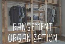 Rangement / Organization / Truc et idée pour tout ranger et organiser dans la maison.  Organize everything in the House.