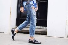 s t y l e  - menswear' inspiration / Oversized, button-down, Oxford shoes, wide-brimmed fedora, boyfriend jeans, plain shirt.... It isn't a man'world.