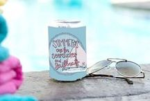 Koozie Love / Preppy Southern Koozies that are perfect for southern girls everywhere.